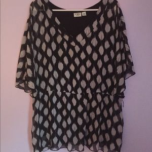 Black and white dress top